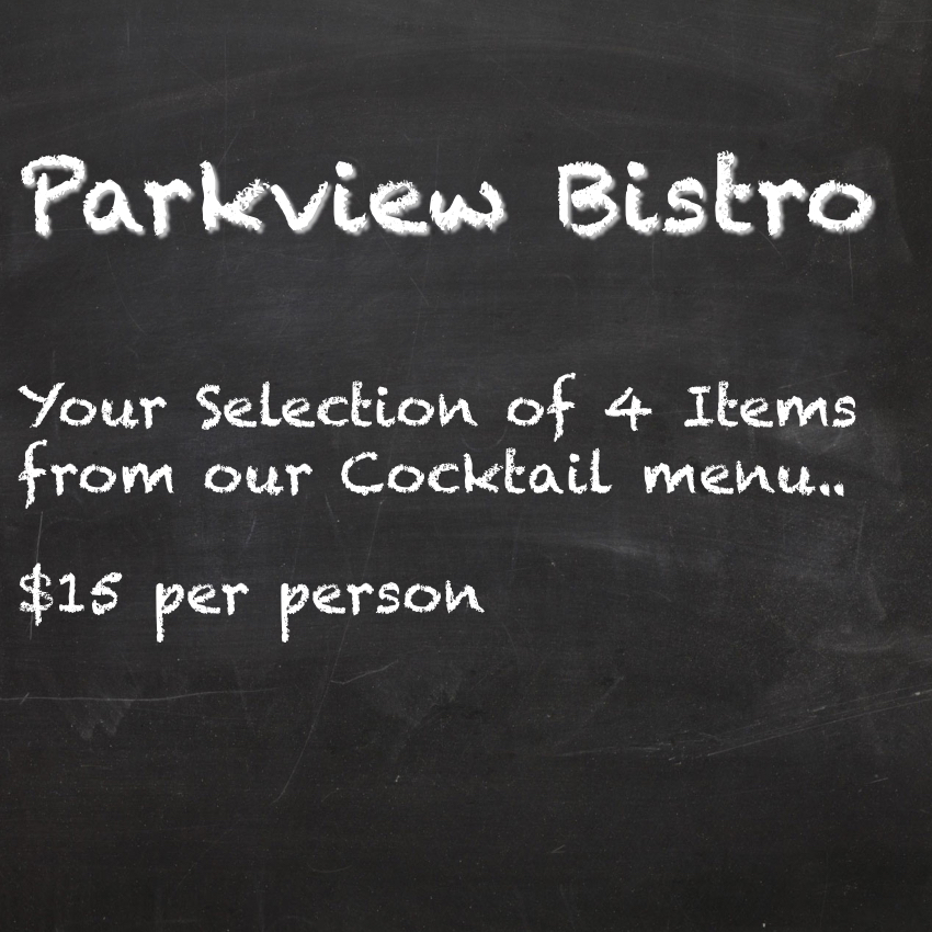 Cocktail Menu 4 Items